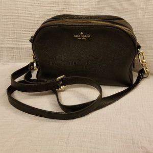 Like New Real Leather Black Crossbody Kate Spade